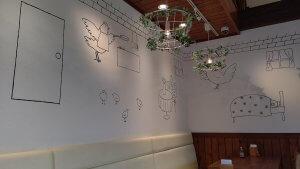 たまご食堂の壁