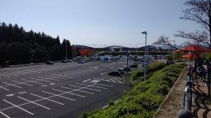 広島空港の駐車場