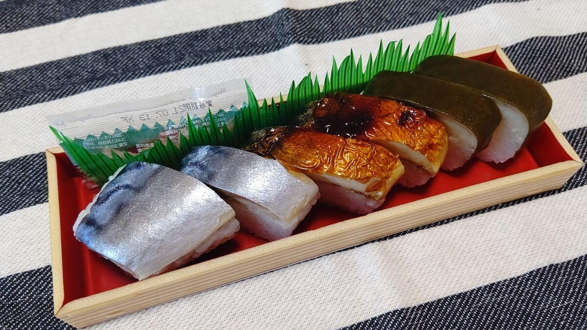 山勝本舗の焼きさば棒寿司②